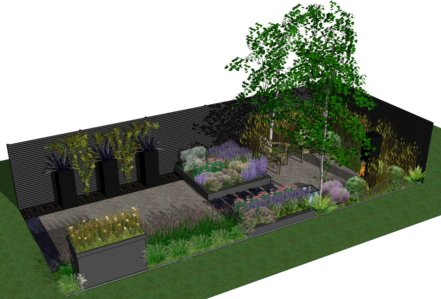 Garden plans and visualization benedict green garden design for Garden design visualiser