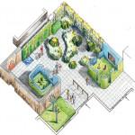 3D image of garden